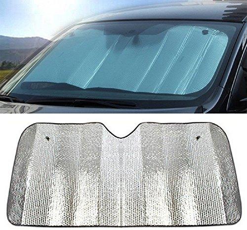 Hosaire Coche Delantero Parabrisas Parasol excelente UV Calor y Sol Reflector fácil de Usar Sol Shade-Silver (140 * 70CM)