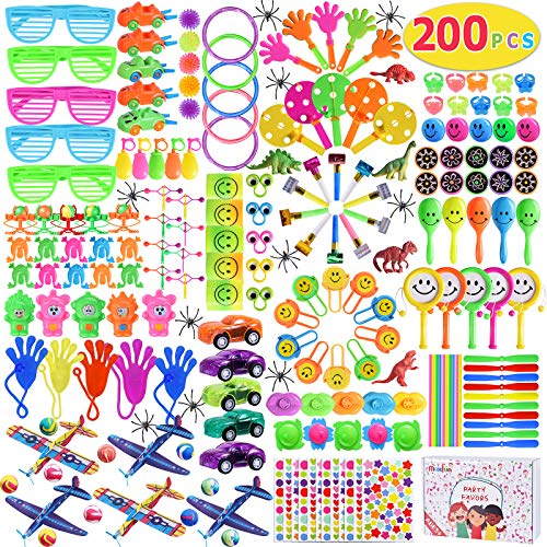 Max Fun 200Pcs Party Toys Assortment for Kids Birthday Party