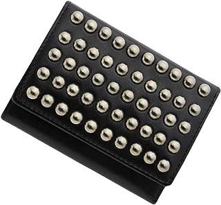 極小財布 スタッズ BECKER(ベッカー)日本製 (ブラック) ミニ財布/三つ折り財布