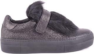 Luxury Fashion | Moncler Women MCBI33154 Black Leather Sneakers | Season Outlet