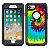 Teleskins Protective Designer Vinyl Skin Decals/Stickers Compatible with Otterbox Defender iPhone 8 / iPhone 7 / SE 2020 Case - Tie Dye Design Patterns - only Skins and not Case