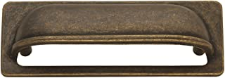 Hickory Hardware PA1023-WOA Oxford Antique Cup Cabinet Pull, 3-Inch, Windover Antique