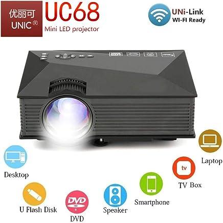 0db9d7c4aca4c9 UNIC UC68 FullHD LED WiFi Projector 1800 lumi/Airplay/Miracast/HDMI/USB