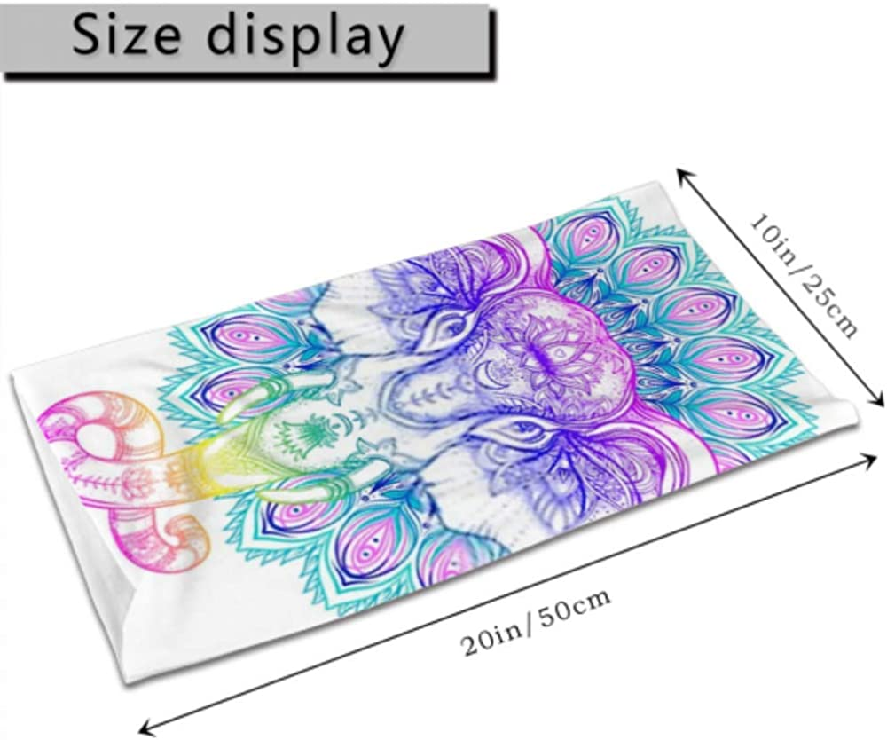 Headbands For Men Women Neck Gaiter, Face Mask, Headband, Scarf Beautiful Handdrawn Tribal Style Elephant Over Turban Multi Scarf Double Sided Print Elastic Headbands For Women For Sport Outdoor