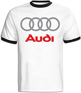 men clothing Men's Audi Logo Baseball T-Shirt Red