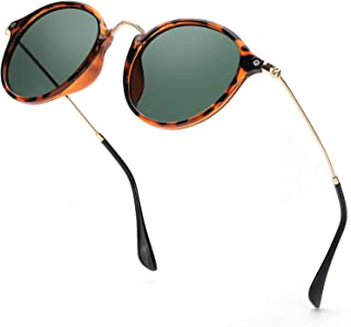 ELIVWR Redondas Retro Polarizadas Gafas de Sol Con Gafas de Sol Para Conducir Viajes Playa, 100% de Protección Contra Los Rayos UVA/UVB Dañi