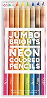 Ooly Jumbo Brights Neon Colored Pencils - Chunky Set of 8 - 7