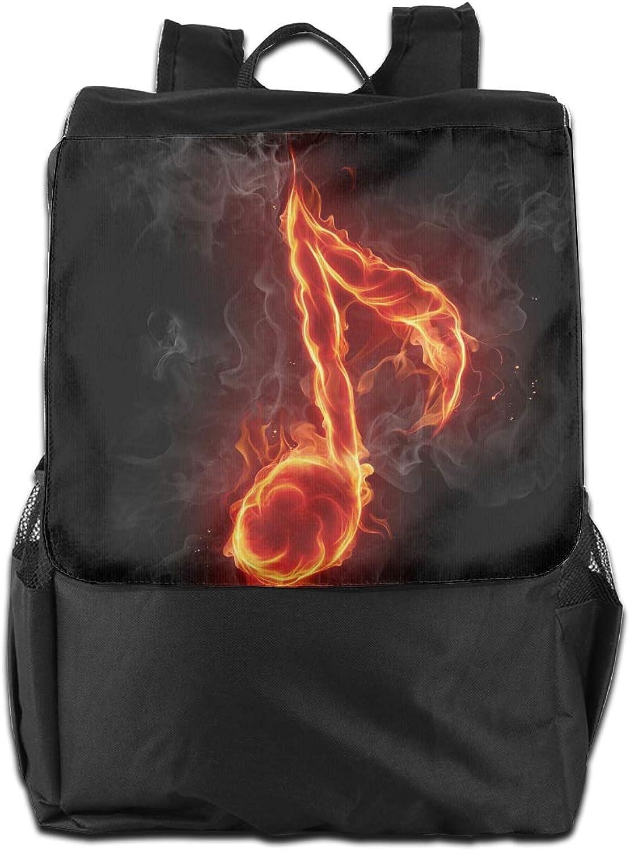 5c54c655b691 Music Notation Printed Girls Backpack Lightweight Casual Shoulder ...