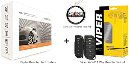 Viper 4610V - 9656V 1-Way Remote Control with 1/2-mile Range with 4X10 Digital Remote Start System and a SOTS Freshener