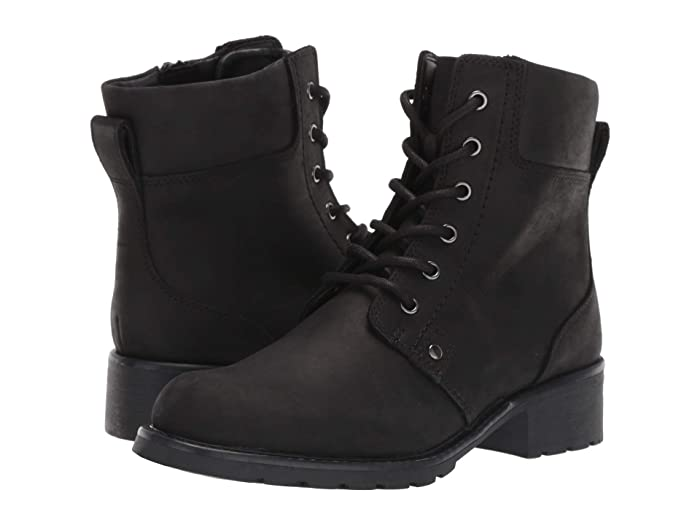 Clarks  Orinoco Spice (Black Leather) Womens  Boots