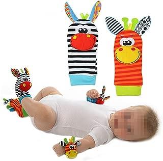 Isuper Bonitos calcetines para bebés y niños con diseño de Rattles