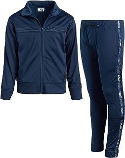 Pony Boy's Activewear Tracksuit Set - Zip-Up Performance Sweatshirt Jacket and Track Sweatpants