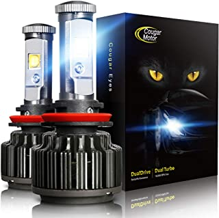 CougarMotor LED Headlight Bulbs All-in-One Conversion Kit - 9006-7,200Lm 6000K Cool White CREE
