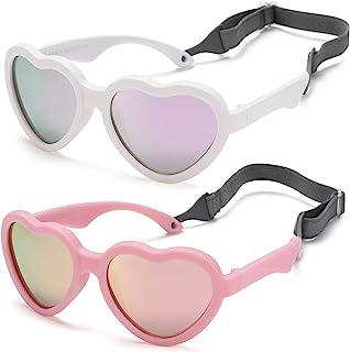عینک آفتابی پلاریزه کودک به شکل قلب انعطاف پذیر با یک کودک نوپا قابل تنظیم بند