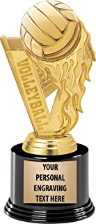Crown Awards Volleyball Trophies with Custom Engraving, 7.25