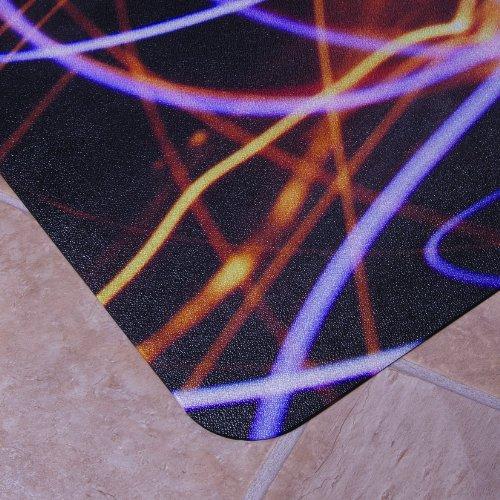 """Floortex Bodenschutzmatte   Bürostuhlunterlage \""""Colortex\""""   90 x 120 cm   aus Original-Floortex-Polycarbonat   Design: Lichtwirbel   rechteckig   TÜV zertifiziert   für Hartböden"""
