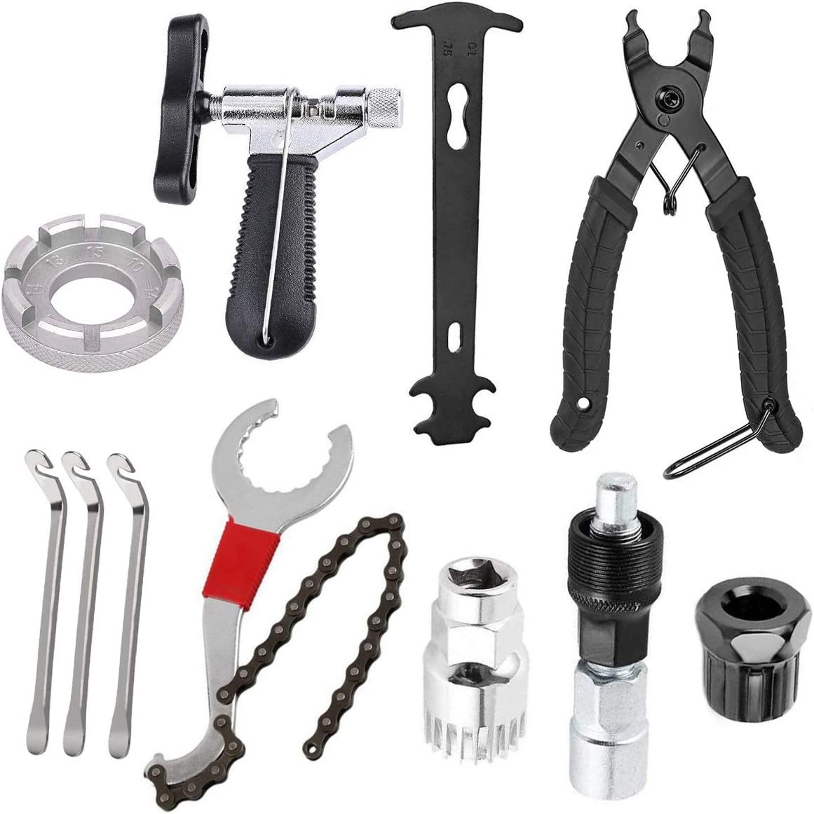 fshihine 11Pcs Bicycle Popular Sale Special Price Cassette Removal Chain Whi with Tool Kits