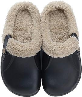 Flyd - Zapatillas de estar por casa para hombre y mujer, de invierno, cálidas, con forro de felpa antideslizante