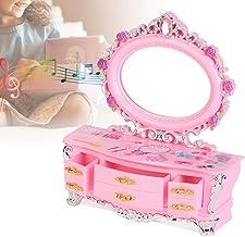 Oumefar Coeur Miroir Conception Boîte De Rangement De Bijoux Organisateur Cas Cadeaux d'anniversaire pour Filles Enfants D...