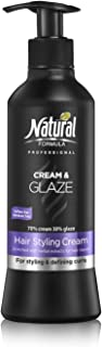 Natural Formula Professional Hair Moisturizer Cream With Glaze For Round, Fresh & Glowing Curls Paraben and Sulfate Free 13.5 Fl Oz