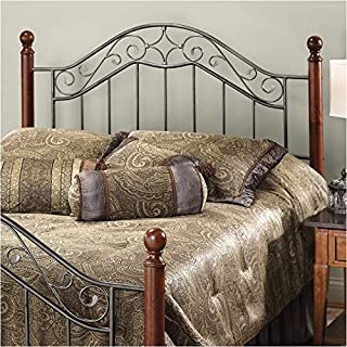 Hawthorne Collections King Poster Spindle Headboard in Silver