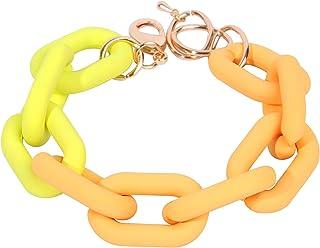 اليدوية الاكريليك كاندي سلسلة سوار الملونة رابط سوار أزياء الاكريليك تويست لينك سوار سلسلة سوار أساور الشاطئ للنساء الفتيات