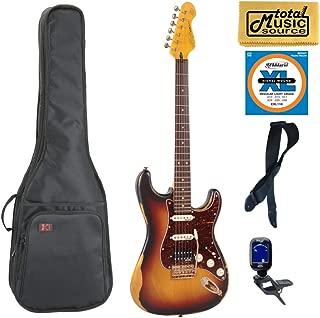 $479 » Vintage Guitars Icon V6 Electric Guitar, Distressed Sunburst, V6HMRSB, Gigbag Bundle