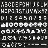 Kesote 190 Stück Zeichen für Filz Buchstabe Board Einschulung Schulanfang, Weiß (Buchstaben, Zahlen, Symbole, Emojis)