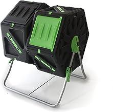PALMAT® Professionele Dubbele Compostmolen – Composter - Molen – Tuin en Huisafval – 2x 70 Liter – Groen/Geel
