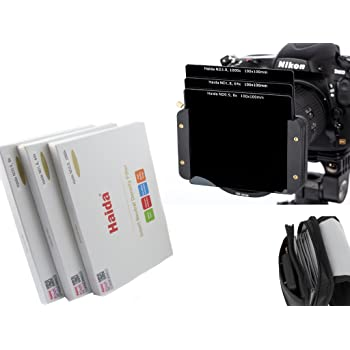 Haida Optical Neutral 3er Graufilter Set 100 mm x 100 mm ND0.9 (8X) / ND1.8 (64x) / ND3.0 (1000x) - Inkl. Haida Filtertasche - Kompatibel mit Allen gängigen Serie 100 Haltern
