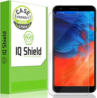 IQ Shield Screen Protector Compatible with Google Pixel 3a XL 6 inch (2-Pack)(Case Friendly) Anti-Bubble Clear Film