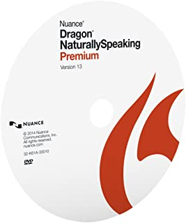 Nuance Dragon NaturallySpeaking Premium 13, Disc Only