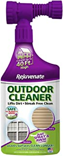 Rejuvenate Outdoor Window Spray and Rinse Cleaner with Hose End Adapter (32 oz)