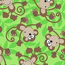 Funky Monkey Fleece Fabric - 60
