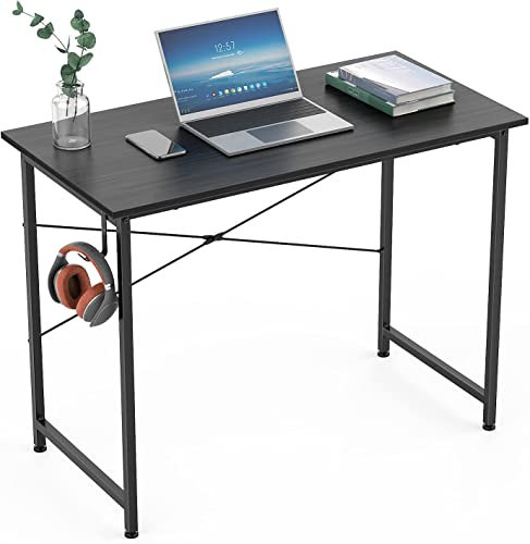 discount Yesker Computer Desk high quality 32 inch Home Office Writing Study Desk, Sturdy Metal online sale Frame, Modern Industrial Simple Style for PC Desk Notebook Desktop Workstations, Study Table for Small Spaces, Black online