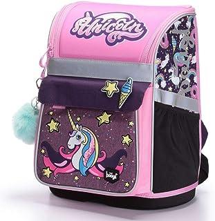 f6567dfb9d Schulranzen Mädchen 1. Klasse - Ergonomische Schultasche für Kinder - Einhorn  Schulrucksack mit Brustgurt -