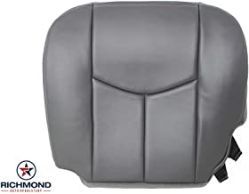 Richmond Auto Upholstery 2003-2007 Chevy Silverado 2500HD Work Truck W/T Base Driver Side Bottom Replacement Vinyl Seat Cover, Dark Gray
