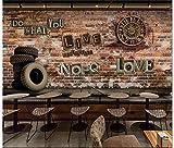 Fotomurali Fondo d'annata mattone della parete dell'ingranaggio dell'orologio 3D Stampato Fotomurale Carta da parati non tessuta Decorazioni per la casa Carta da parati Per tv sfondo muro 350x256 cm