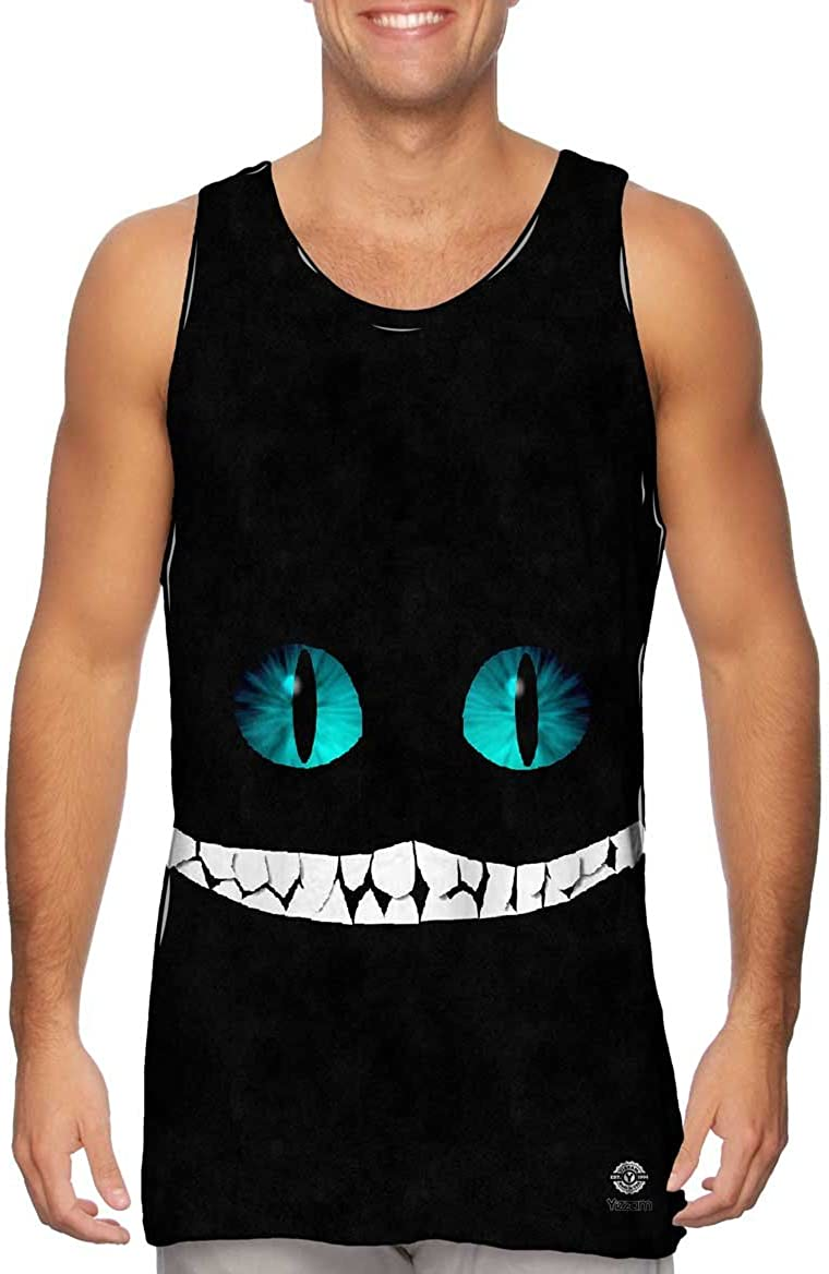 Yizzam-- Cheshire Translated Cat -Tshirt- Mens Top Tank Popularity
