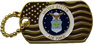 ALBATROS Pack of 24 United States Air Force Waving Gold Flag Hat Cap Lapel Pin/Key Chain for Home and Parades, Official Party, All Weather Indoors Outdoors