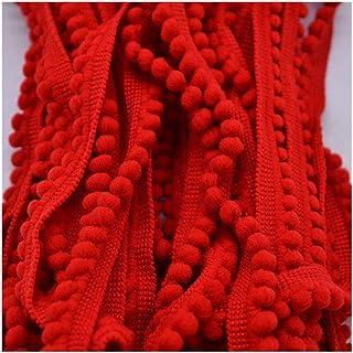 LHBH 装饰球ミリメートル迷你珍珠流苏缎带缝纫花边打结布手工工艺配件 (Kleur : Red)