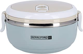 Royalford 700ML Single Layer Round Lunch Box - Leak-Proof & Airtight Lid Food Storage Container Stainless Steel Inner, No...