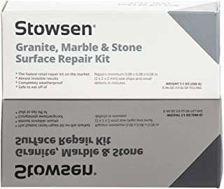 Granite, Marble & Stone Repair Kit - Fix Chips & Defects in Minutes | Restore Tiles & Countertops With Ease | For Quartz C...