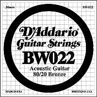 D'Addario ダダリオ アコースティックギター用バラ弦 80/20ブロンズ .022 BW022 【国内正規品】
