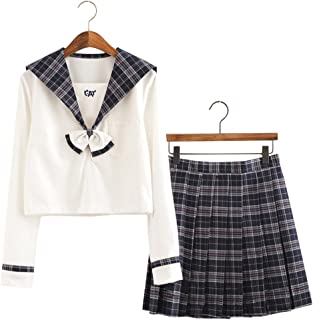 ACE SHOCK Japanese School Uniform Adult Women, Halloween Sailor Cosplay Costume Outfit Student Use