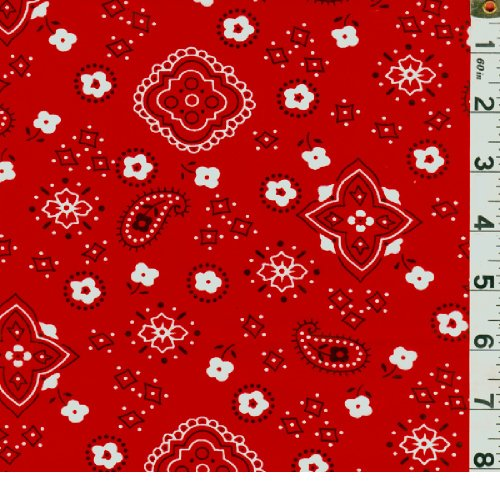 Bandana Fabric 15 Yards Wholesale by The Bolt-Red