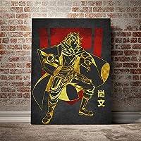 岩谷直文マンガポスターキャンバスウォールアートリビング用デコレーションプリントキッズチルドレンルームホームベッドルームデコレーションペインティング/ 60x80cm(フレームなし)