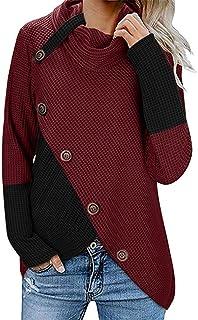 FELZ 2019 Moda Sudadera Caliente Mujer De Manga Larga Otoño e Invierno Pullover Suéter Irregular Prendas de Punto Collar d...