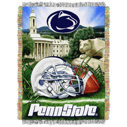 Penn State Lions NCAA Woven Tapestry Throw (Home Field Advantage) (48x60 )