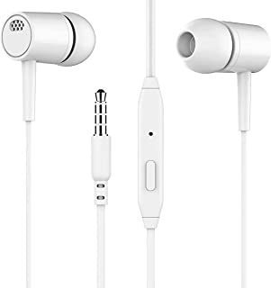 Earbuds Earphones with Microphone, Earbuds Earphones Wired Stereo in-Ear Headphones Bass Earbuds, Compatible with iPhone a...